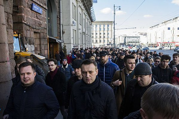 Navalny protesting in March 2017